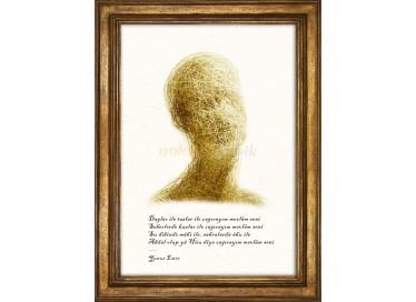 Soyut Portre, Yunus Emre Kıtası - 8745NKs